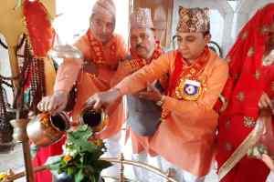 श्री पशुपतिनाथ मंदिर गोविन्दपुरा में गंगाजली कलश यात्रा एवं रूद्राभिषेक का आयोजन सम्पन्न
