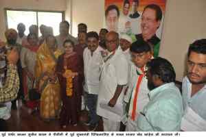 पूर्व पार्षद काजल सुनील बाकरू कांग्रेस में शामिल