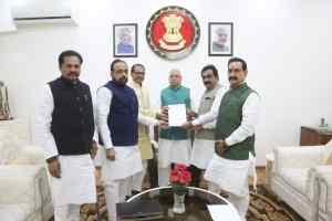विधायक प्रहलाद लोधी की सदस्यता बहाल करने के लिए प्रतिनिधिमंडल ने दिया राज्यपाल को ज्ञापन